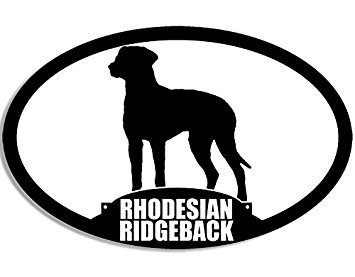 MAGNET Oval RHODESIAN RIDGEBACK Silhouette Magnet(dog breed) Size: 3 x 5 inch
