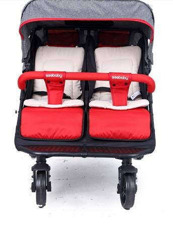 luxury baby stroller for twins,360 baby stroller,landscape baby trolley ,twins stroller,baby strollers double by vory (Image #2)