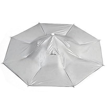 Pesca plegable Lluvia Sun del casquillo de Headwear Paraguas Sombrero