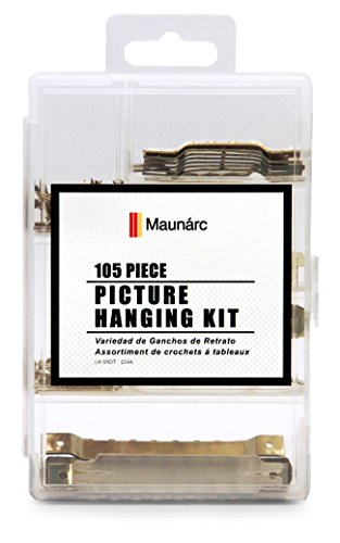 Picture Hanging Kit, 105 Sawtooth Hangers in Assorted Sizes, Includes Hooks and Nails, Great For Hanging Photos, Artwork, Frames, Clocks, Mirrors by BMTools