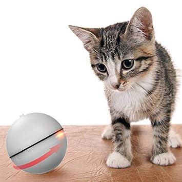mewmewcat Bola de Balanceo Automática de luz LED Juguetes Interactivos de Entretenimiento para Gatos y Perros: Amazon.es: Deportes y aire libre
