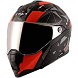 Vega Storm Drift Dull Black Orange Helmet-L
