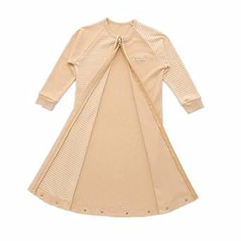 Fairy Baby Spring Fall Organic Cotton Long Sleeves Sleeper Wearable Sleeping Bag,L