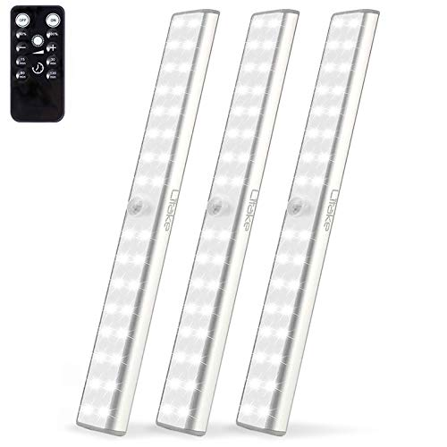 LITAKE Wireless Under Cabinet Lighting Rechargeable,32 LED Closet Lights with Remote,Dimmable LED Light Bar with…