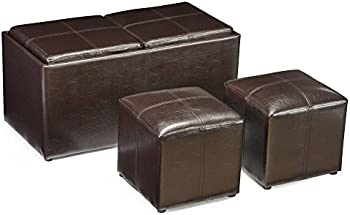 Finley Home Jameson Double Storage Ottoman