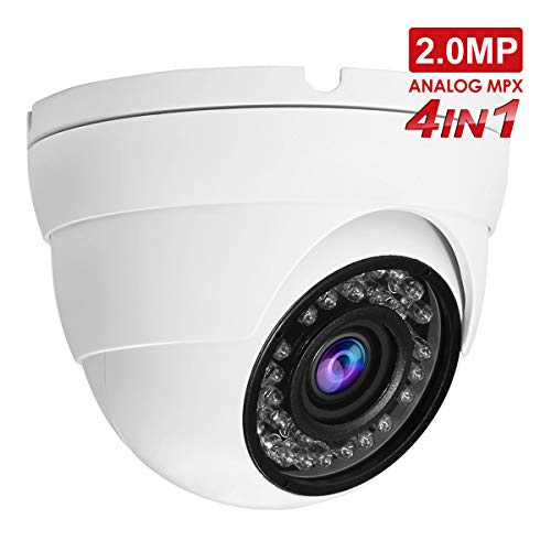 Security Dome Camera, Anpvees 2.0MP HD 1080P 2MP 4-in-1 TVI/CVI/AHD/CVBS Security Cameras, 2.8-12mm Manual Varifocal Lens Waterproof Outdoor Surveillance Camera