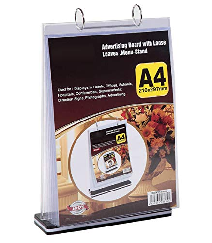 A4 Multi-Page flip Display Card Label Display Stand Detachable Label Business menu Folder, T-Shaped Double-Sided 8.5 x 11