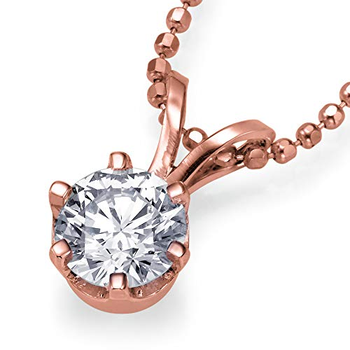 Christmas Gift Sale Real Natural 0.42 ct D VS2 Diamond Pendant Chain Necklace Solitaire Solid 14k Rose Gold Slider 27949016 from Rothem Collection