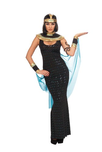 Rubie's Costume Deluxe Goddess Cleopatra Queen Of The Nile Costume, Black, Standard]()