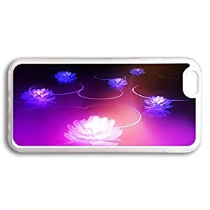 Case Cover For Ipod Touch 5 Transparent, Fashion Style Colorful Painted purple Lotus Flower Hard Back Cover Protector Skin For iPhone x2hnDq8UmzS
