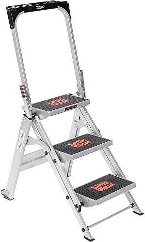 Escalera de seguridad gigante pequeña – tres pasos – 22 x 34 – 1/2 x 43 pulgadas: Amazon.es: Bricolaje y herramientas