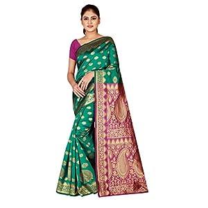 Dealsure Women's Banarasi Silk Saree With Blouse Piece (DS-S8617-05_Multicolored)