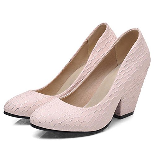 Slip Pumps TAOFFEN Pink On 04 Women g4Fq7wa