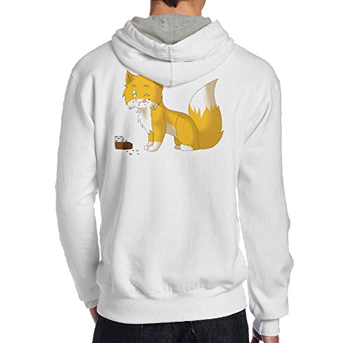 Show Time Men's Game Stamp Cat Classic Hoodies White M
