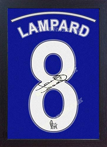 - S&E DESING Frank Lampard Chelsea Signed Autograph Printed ON Canvas 100% Cotton Replica Framed (MDF)