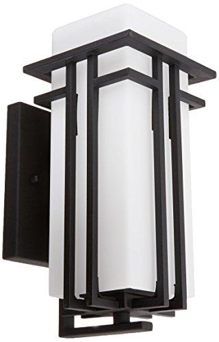 (Elk Lighting 45085/1 Croftwell Collection 1 Light Outdoor Sconce, Textured Matte Black)