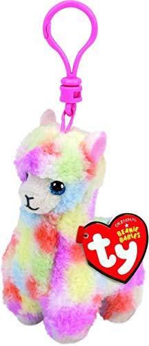 T&Y Ty Beanie Babies LOLA - Multicolor Llama(Clip) (Lola Baby)