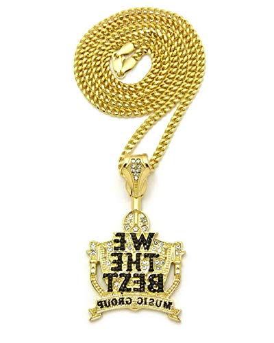 Werrox ICED Out WE The Best Music Group Pendant 24 Cuban Chain Necklace - XSP591G | Model NCKLCS - 4539 ()