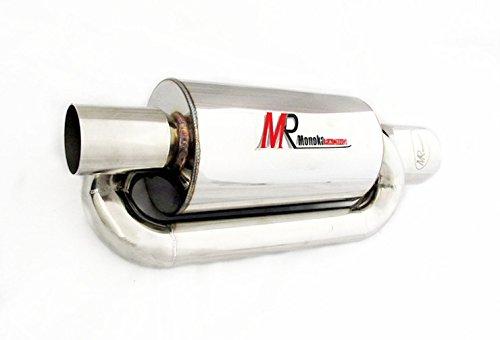 JDM 3.5'' TIP 2.5'' INLET RACING PERFORMANCE DEEP SOUND TWIN LOOP MUFFLER EXHAUST