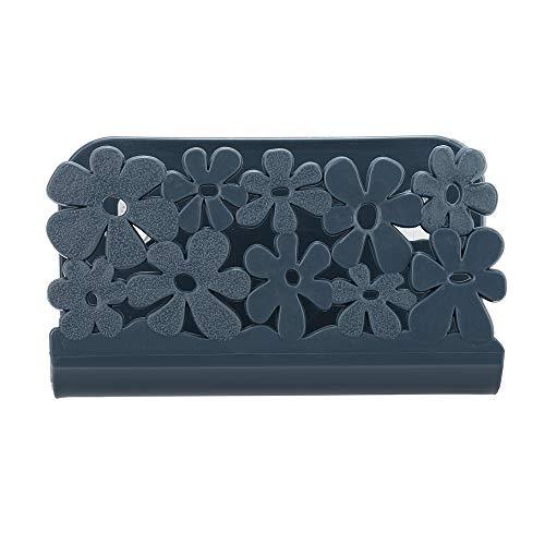 NIHAI Sink Suction Cup Rack Drain Basket, Plastic Dish Cloths Rack Rag Soap Storage Rack, Flexible and Durable Storage Tools Sink Holder (Navy) by NIHAI (Image #2)