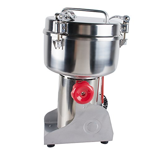 Genmine Electric Grain Grinder Mill Machine Commercial 1000g Kitchen Herb Spice Pepper Coffee Grinder Powder Swing Type for Herb Pulverizer Food Grade Stainless Steel (Shipping From USA) by genmine (Image #2)