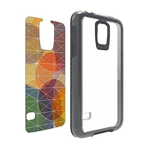 OtterBox Symmetry Series Samsung Galaxy S5 Case - Grey Crystal w/ Fall Grid Graphic Insert (Otterbox Samsung Galaxy S5 Skin)