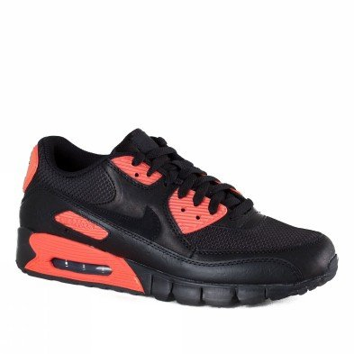 Air Shox Max (Nike Trainers Shoes Mens Air Max 90 Ct Le Leather And Nylon Fibres Black)