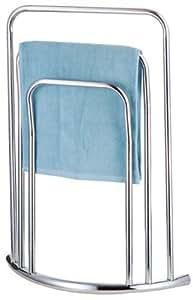 new chrome free standing 3 bar towel rail bathroom rack holder floor stand kitchen. Black Bedroom Furniture Sets. Home Design Ideas