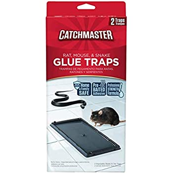 Catchmaster 402 Baited Rat, Mouse and Snake Glue Traps 2 CT, 6 Pack (12 traps total)