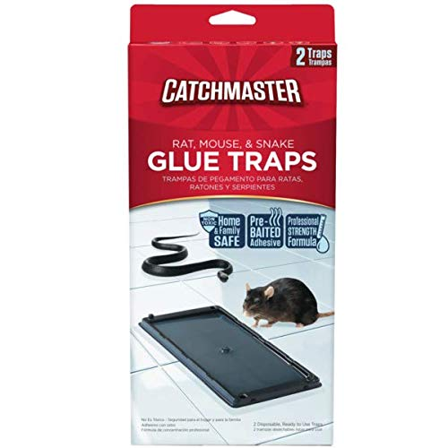 - Catchmaster 402 Baited Rat, Mouse and Snake Glue Traps (12 Pack)