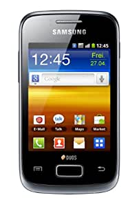 Samsung Galaxy Y DUOS S6102B Unlocked GSM Phone with Dual SIM, Android 2.3 OS, 3MP Camera, Wi-Fi, GPS and microSD Slot - Strong Black