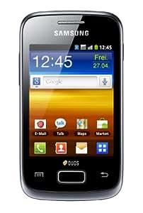 """Samsung Galaxy Y Duos S6102 - Smartphone libre (pantalla táctil de 3,14"""" 240 x 320, cámara 3.15 Mp, 160.0 MB, procesador de 832 MHz, 290 MB de RAM, dual SIM, S.O. Android 2.3), negro (importado)"""