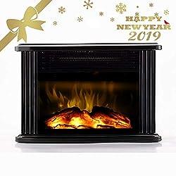 Warmtec Mini Electric Fireplace Heater Portable Heater 1500W