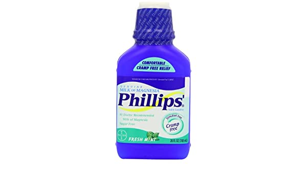 Phillips Phillips Milk Of Magnesia Fresh Mint, Fresh Mint 26 oz: Amazon.es: Salud y cuidado personal
