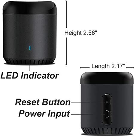 Broadlink Wifi Smart Home Hub RM MINI 3 IR Automation Learning Universal Remote Control Compatible with Alexa 41prkl0vHVL