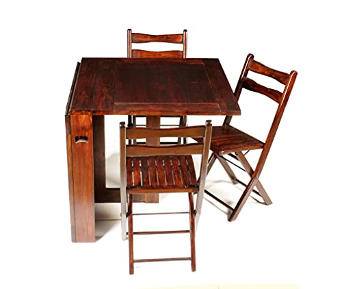 Universal Art Traditional Dining Set with 3 Chairs Solid Wood