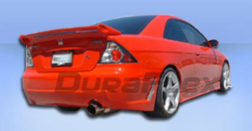 Duraflex Replacement for 2001-2005 Honda Civic 4DR B-2 Rear Bumper Cover - 1 Piece