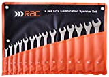 Hilka Tools RAC-HP222 RAC 14 PCE Spanner Set Metric, Silver