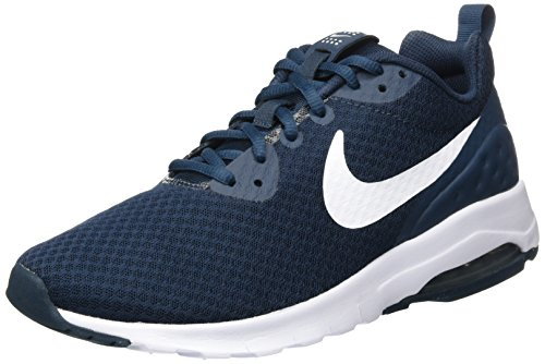 NIKE Men's Air Max Motion Low Cross Trainer, Armory Navy/White, 12.0 Regular US -