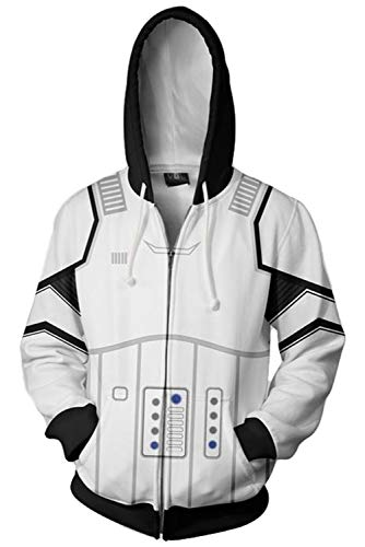 Mutrade Unisex Storm Trooper Character Jacket Adult Zipper Hoodie Halloween Cosplay Costume,XLarge -