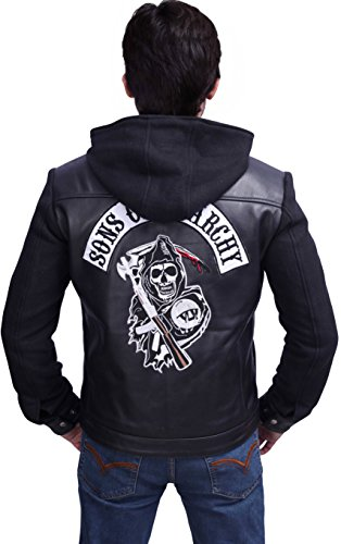 Anarchy Of Pour Highway Veste Sons Homme Cuir En Noir TC1qH