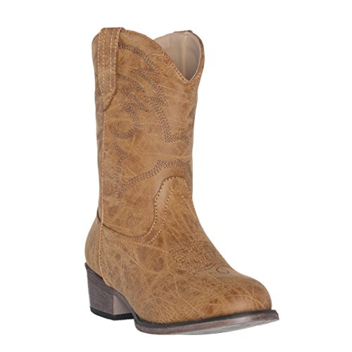 Children Western Kids Cowboy Boot,Tan,9 M US Little Kid