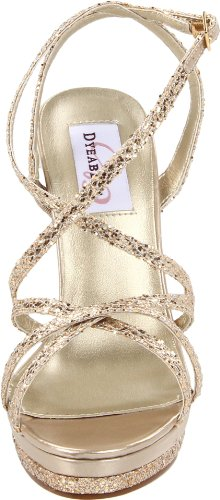 Dyeables Plateau Bryce Glitter Sandale Champagner von fawq4zB