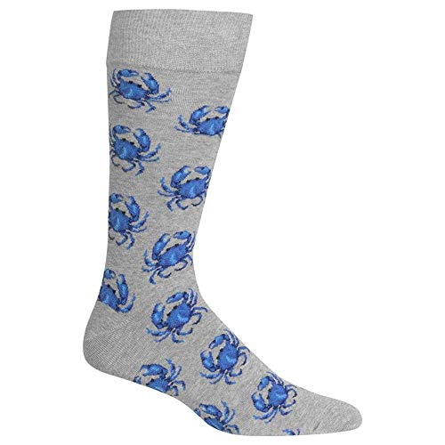 - Hot Sox Men's Sealife Series Novelty Casual Crew Socks, Crabs (Grey) Shoe Size: 6-12