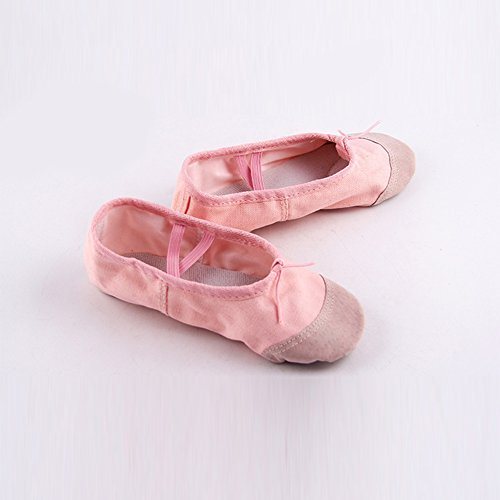Appartements Chaussures 40 Dance Confortable Danse Ballet Chaussons De Pink Yoga Pointe Souple Enfant Femme Elegantstunning Fille Respirant w0AHqA
