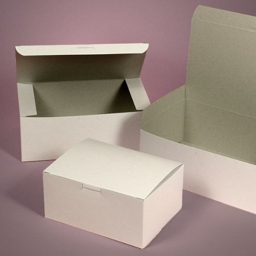 Lot of 25 Bakery Box WHITE 5.5x4x3 for Cake Slice Cookie Pastry