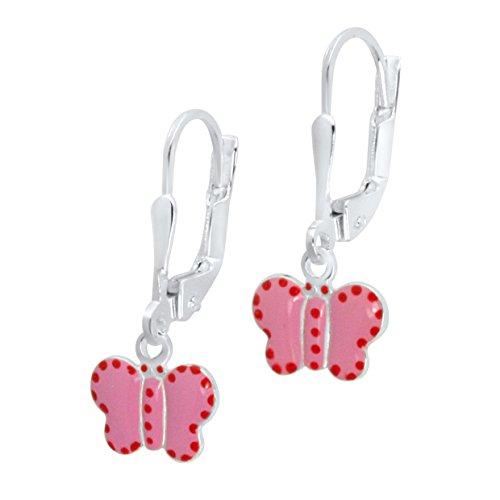 Enamel Butterfly Earrings - 7