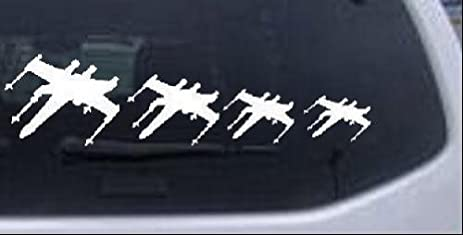 Amazoncom X Wing Star Wars Stick Figure Family Stick Family Car - Family decal stickers for carsamazoncom stick family stick family car window wall laptop decal