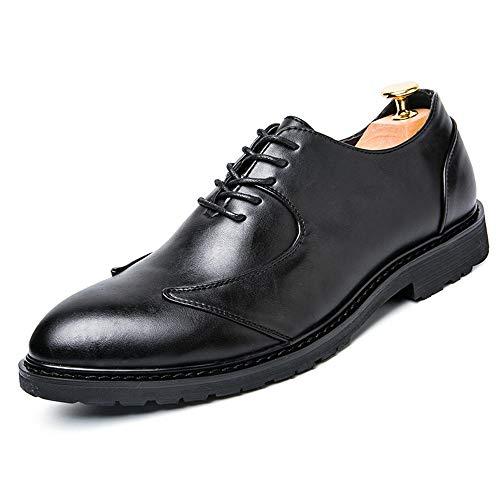 Xujw-shoes, 2018 Scarpe Stringate Basse Scarpe formali Oxford da uomo in stile British Business con punta morbida e bassa traspirante (Color : Nero, Dimensione : 39 EU) Nero