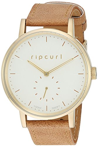 Rip Curl Women's 'Circa Gold' Quartz Stainless Steel and Leather Sport Watch, Color:Brown (Model: A2886G-GOL) by Rip Curl